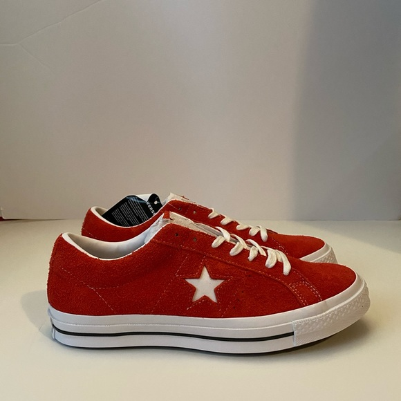 Converse Other - Converse One Star OX Red Suede White Chuck Taylor